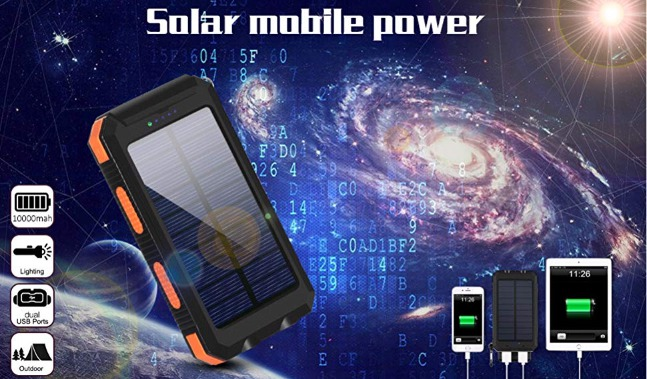 Best Solar Power Banks Ayyie Solar Charger,10000mAh Solar Power Bank
