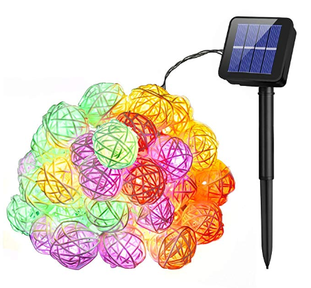Solar powered christmas lights Mpow Solar String Lights, 21ft 30 LEDs Waterproof